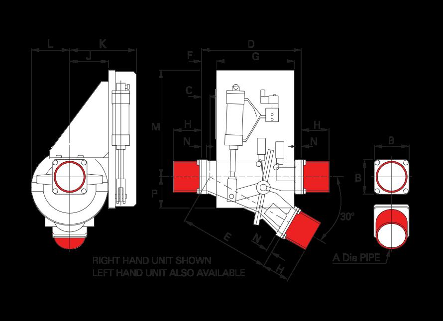 Pneumatic Conveying Diverter CDV Spigot 0x30