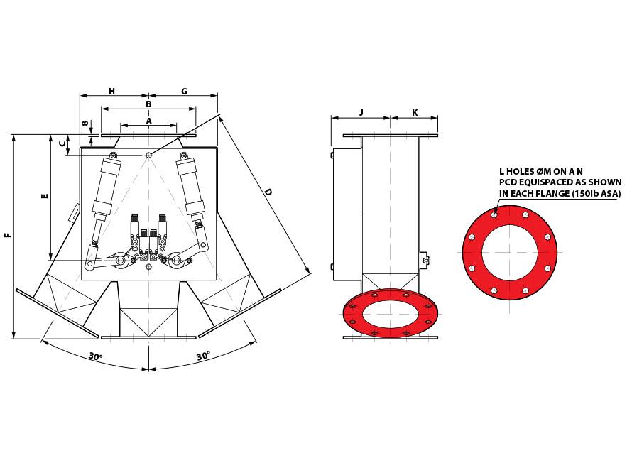 GDV 30x0x30 Round Pneumatic Diagram