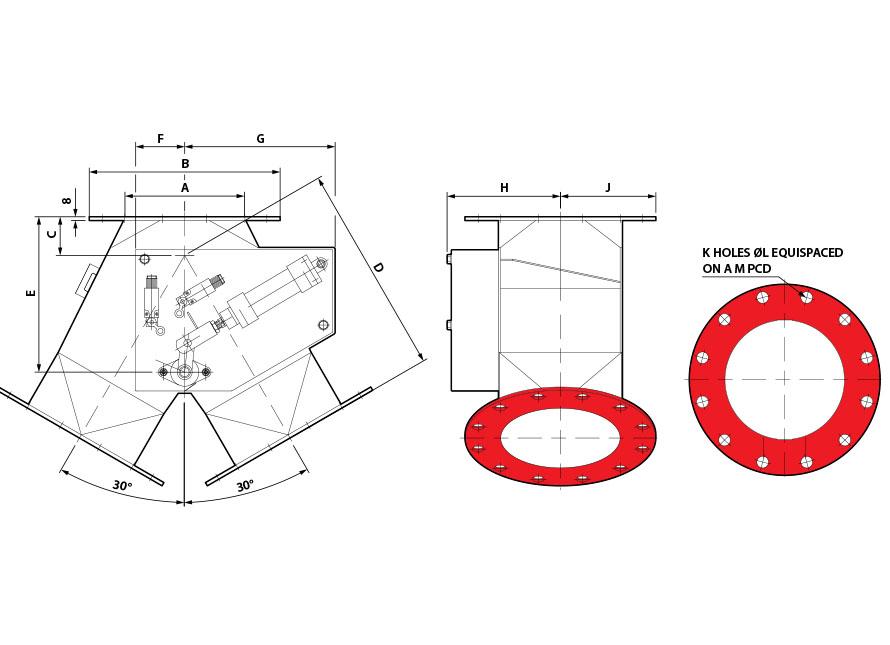 Round Pneumatic GDV 30x30 diagram