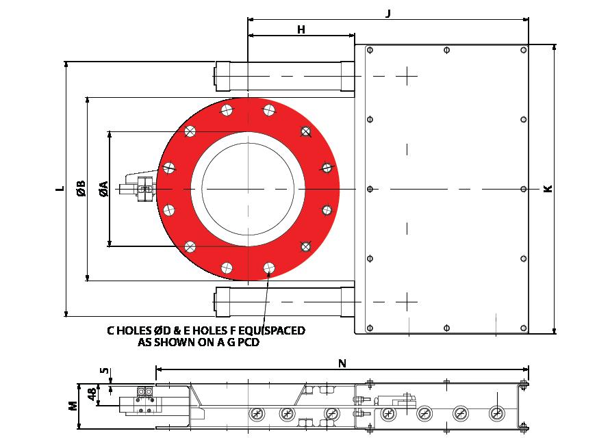 Slide Valve - Double Pneumatic - Circular Australia