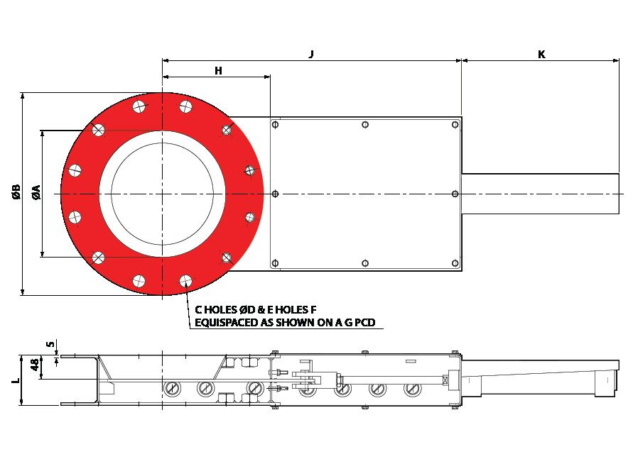 Slide Valve Single Pneumatic Circular Australia