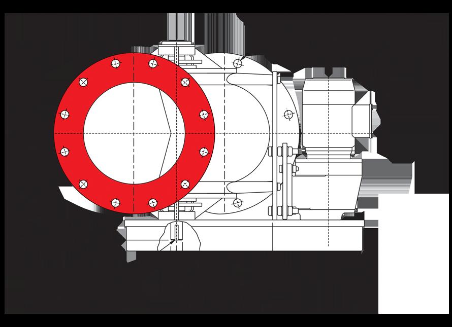 Offset Airlock Valve Circular Inlet