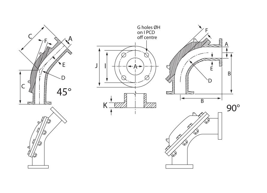 NI-HARD Wearback Corner Dimensions Drawing
